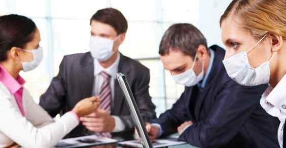 Poluição na ar que respiramos no escritório