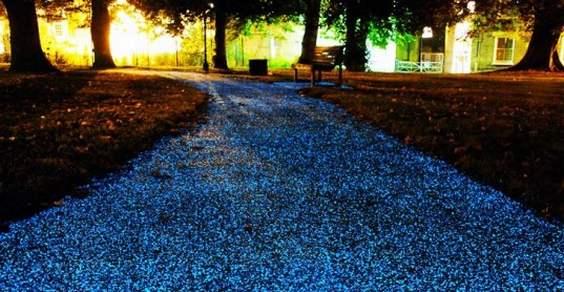 rastro de estrelas para iluminar as ruas