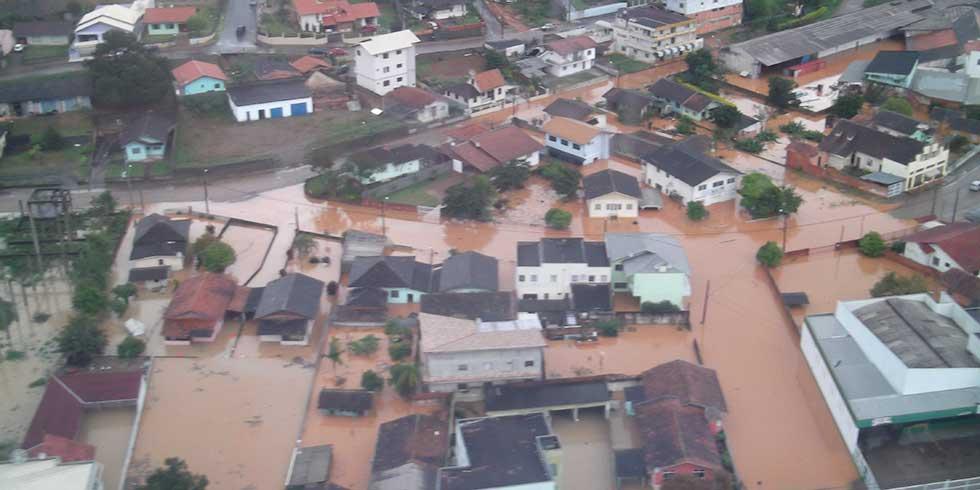 Três dias de chuvas em Santa Catarina