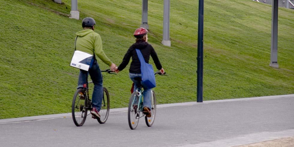 Mais ciclistas, menos acidentes