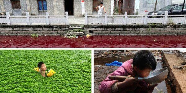 Imagens chocantes da poluição na China