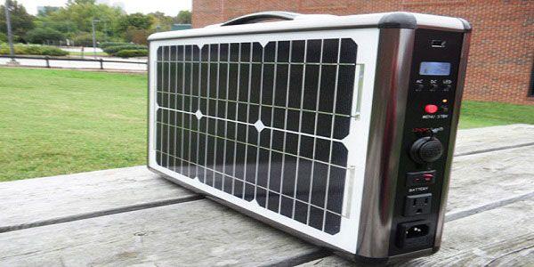 O painel fotovoltaico portátil