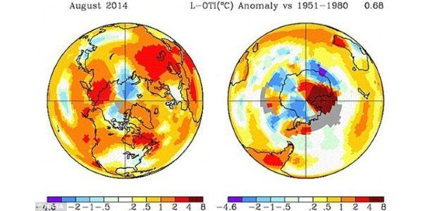 Agosto/2014 foi o mês mais quente