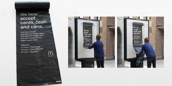 McDonald's: em Estocolmo um hambúrguer grátis por 10 latinhas vazias