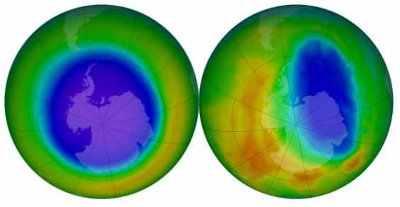 buraco na camada de ozônio está diminuindo