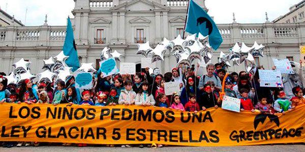 crianças pede proteção às geleiras no Chile