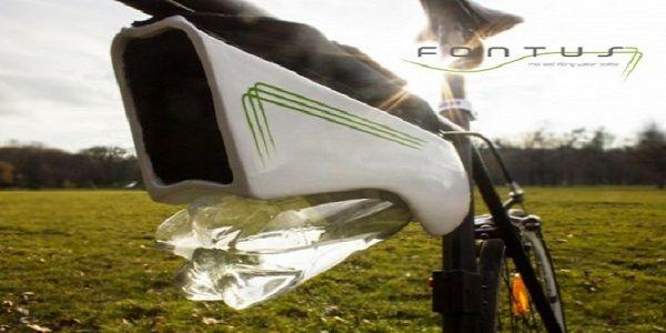 Fontus: a garrafa d'água que se enche ao pedalar