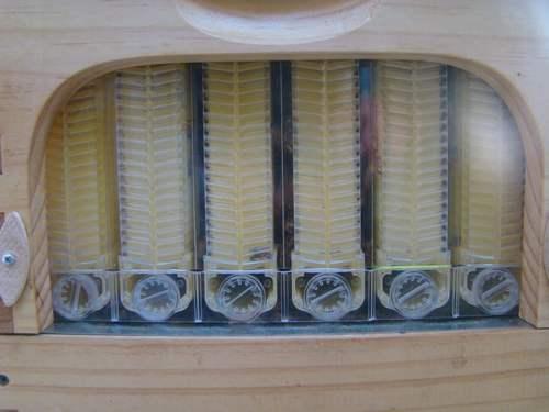 Detalhe interior da colmeia
