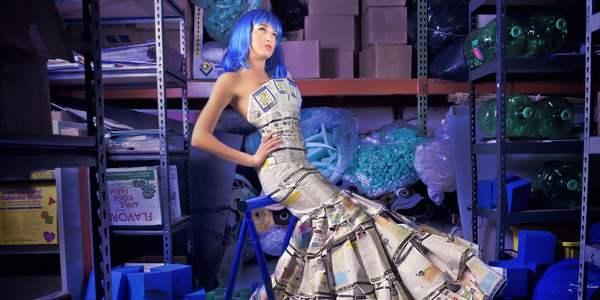 lixo vira roupa fashion