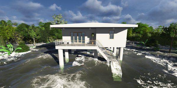 habitações anfíbias à prova de tsunami