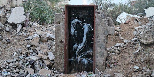 Banksy nos escombros de Gaza