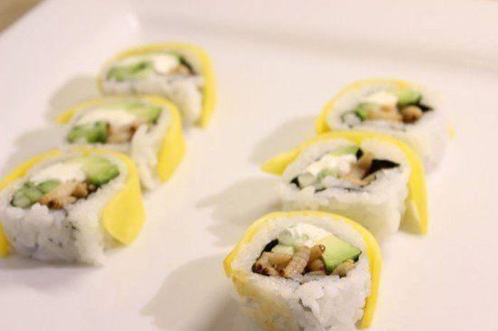 Sushi de insetos