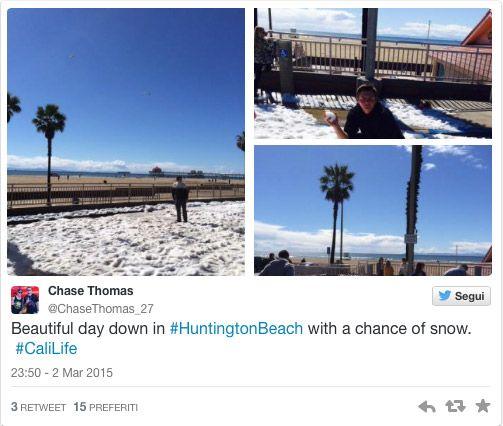 Neve em Huntington Beach
