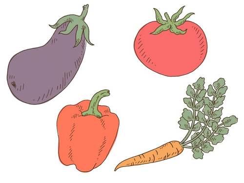 Tatuagem tomate e cia