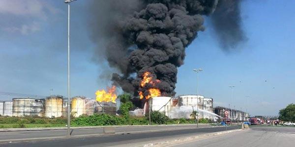 Incêndio em Santos