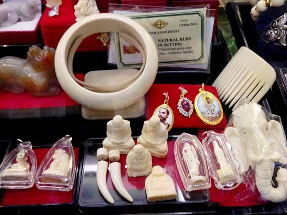 Peças de marfim