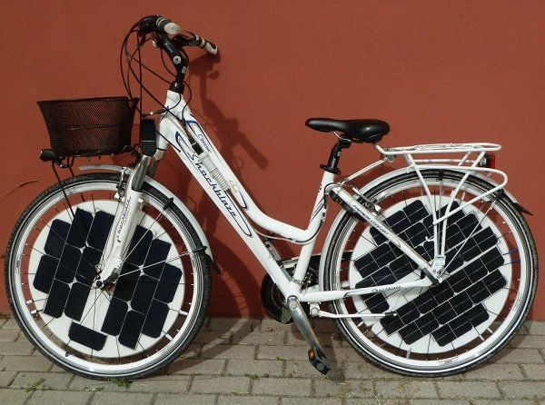 Paineis fotovoltaicos em bikes