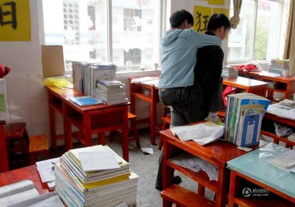Xie Xu e Zhang Chi na escola