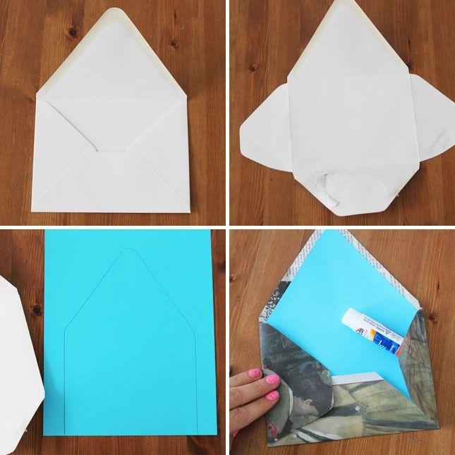 Como fazer envelopes com papel cartao ou caixa de sapato