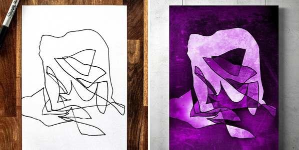 Desenhos de filho a pai