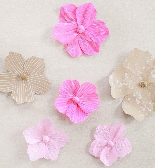Como fazer flores de papel 3