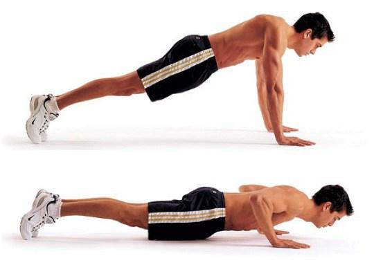 flexão de braço