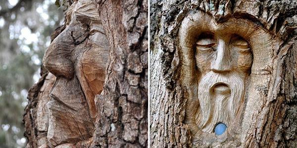 Escultura em árvore