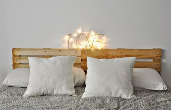 pallets cabeceira sua cama