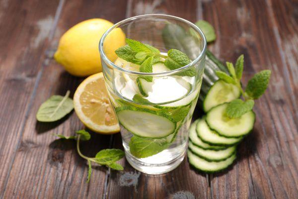 agua detox limao pepino
