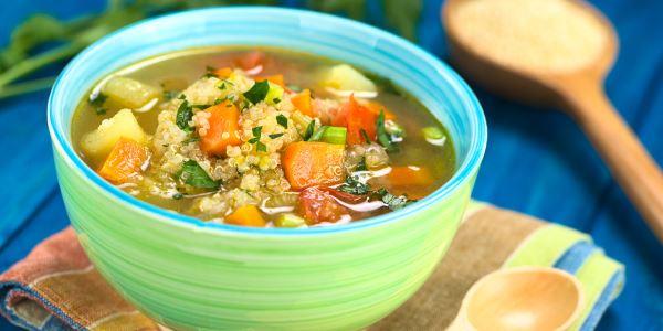 sopa quinoa legumes