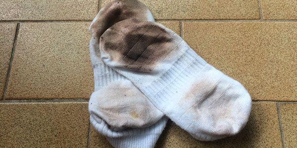 meias sujas