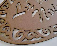 3 placas la vem a noiva mdf 3mm cru la vem a noiva