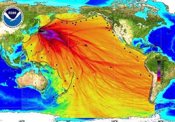 avanço onda gerada terremoto 2011