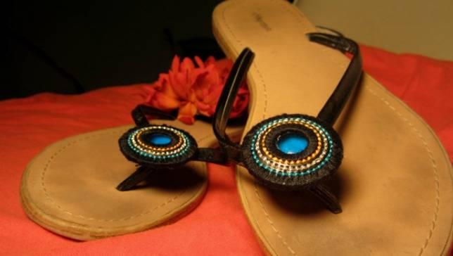 decoração de sandálias