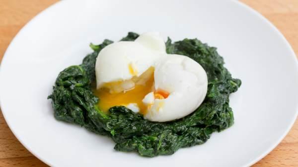 ovos mexidos espinafre