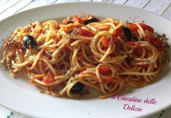 spaghetti pizzaiola