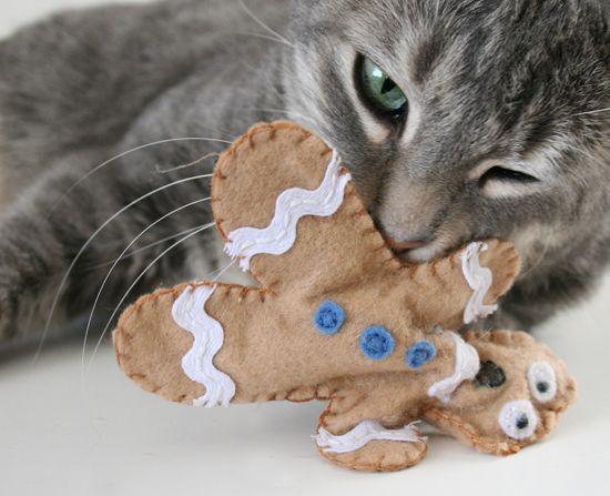 boneco de pano com catnip