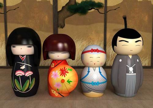 kokeshi family