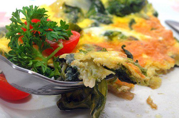 omelete de escarola