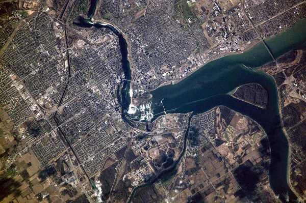 cataratas do niágara foto aerea