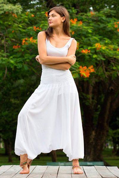 calca thai branca