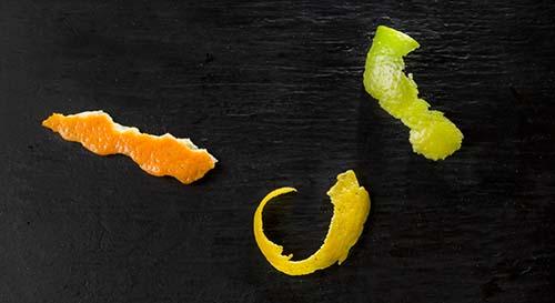 cascas de frutas citricas
