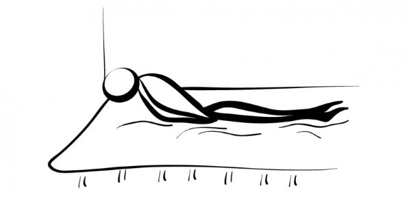 yoga para dormir matsyasana