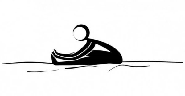 yoga para dormir paschimottanasana