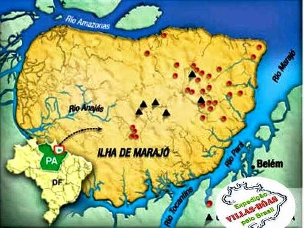 ilha do marajo mapa