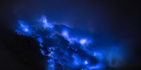 lava azul