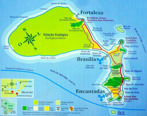mapa ilha do mel