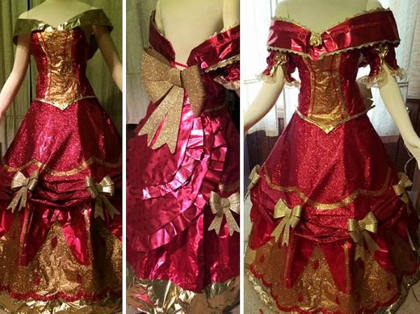 vestido papel presente 4