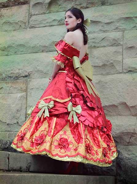 vestido papel presente 5