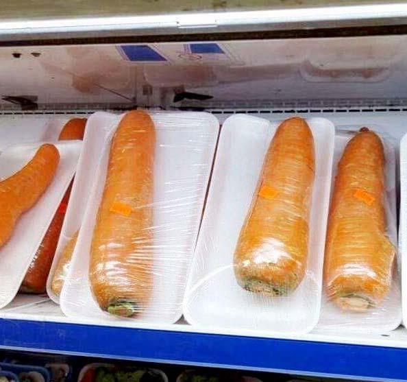 cenoura embalada
